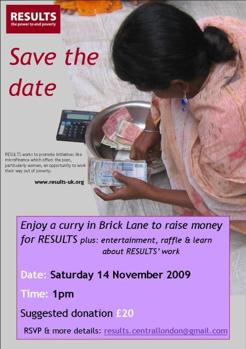 London Fundraiser invite