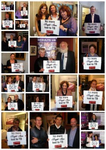 Guest at Bright Star lend their faces to fight TB