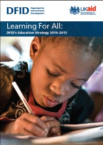 Front cover of DFID's education strategy